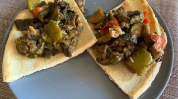 pizza paleo verdure