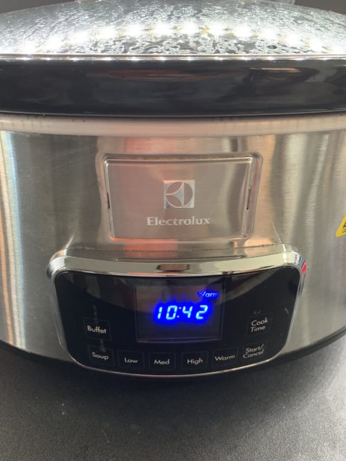 slow cooker electrolux warm