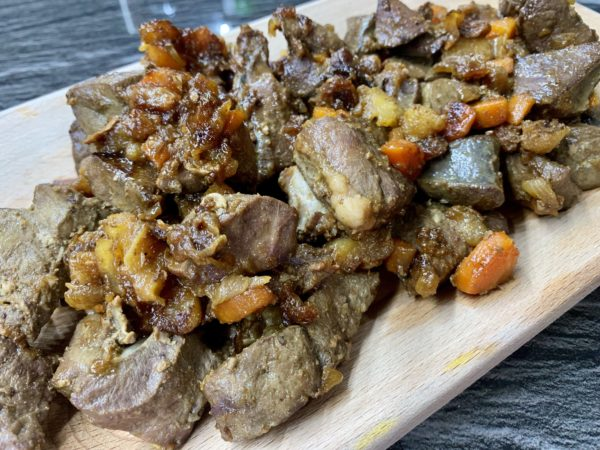 fegato e cuore al curry