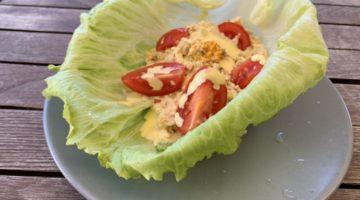 Barchetta di pollo e maionese paleo chetogenica