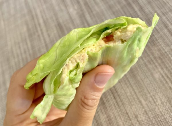 wrap di pollo paleo chetogenico