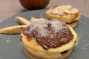 pancake con crema di nocciole