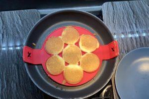 pancake cottura girati