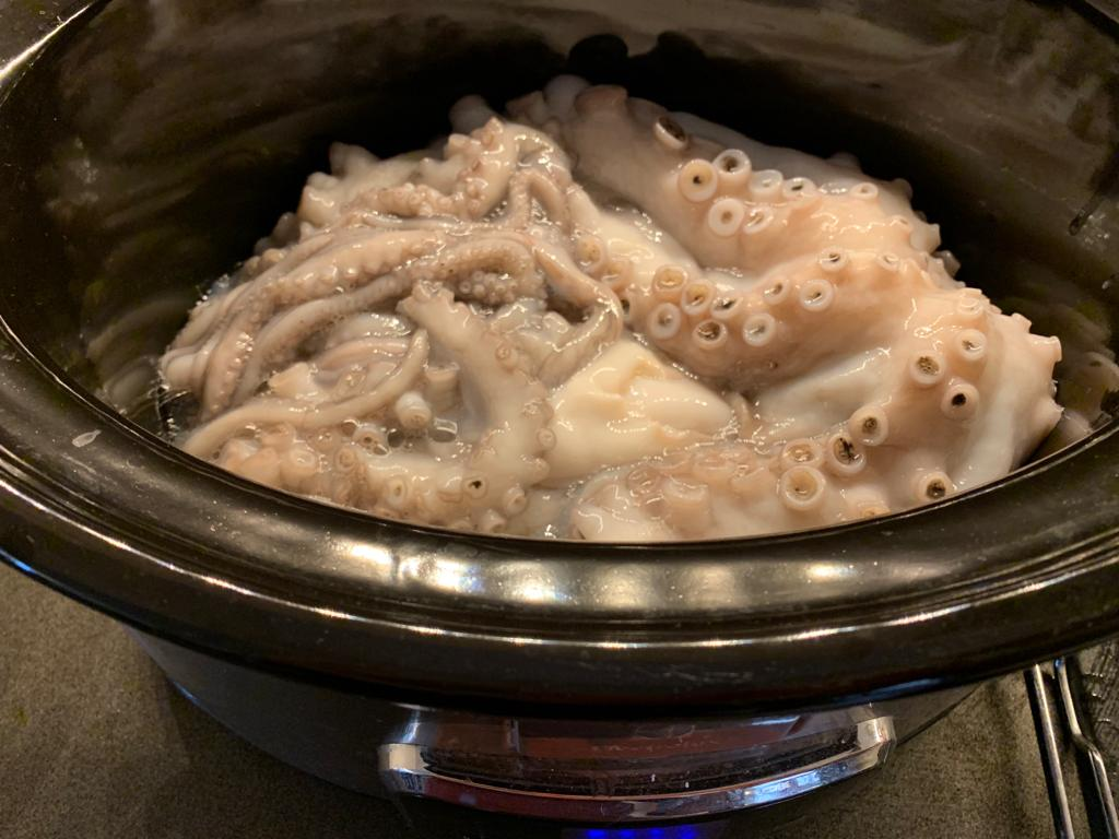 polpo crudo slow cooker