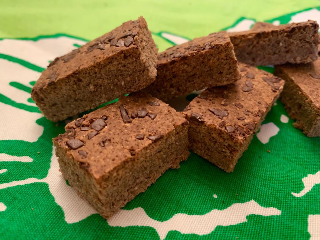 biscotti chufa e castagne con gocce di cioccolato